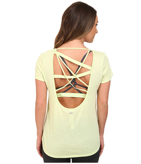 ALO - Draft Short Sleeve Top (Pale Green) Women's Clothing