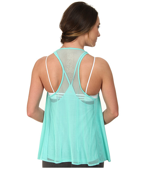 ALO - Edge Tank (Pool Blue) Women's Sleeveless