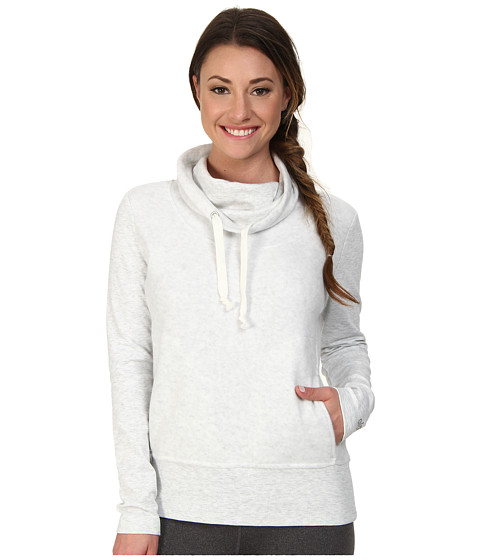ALO - Rift Long Sleeve (White Heather) Women's Sweatshirt