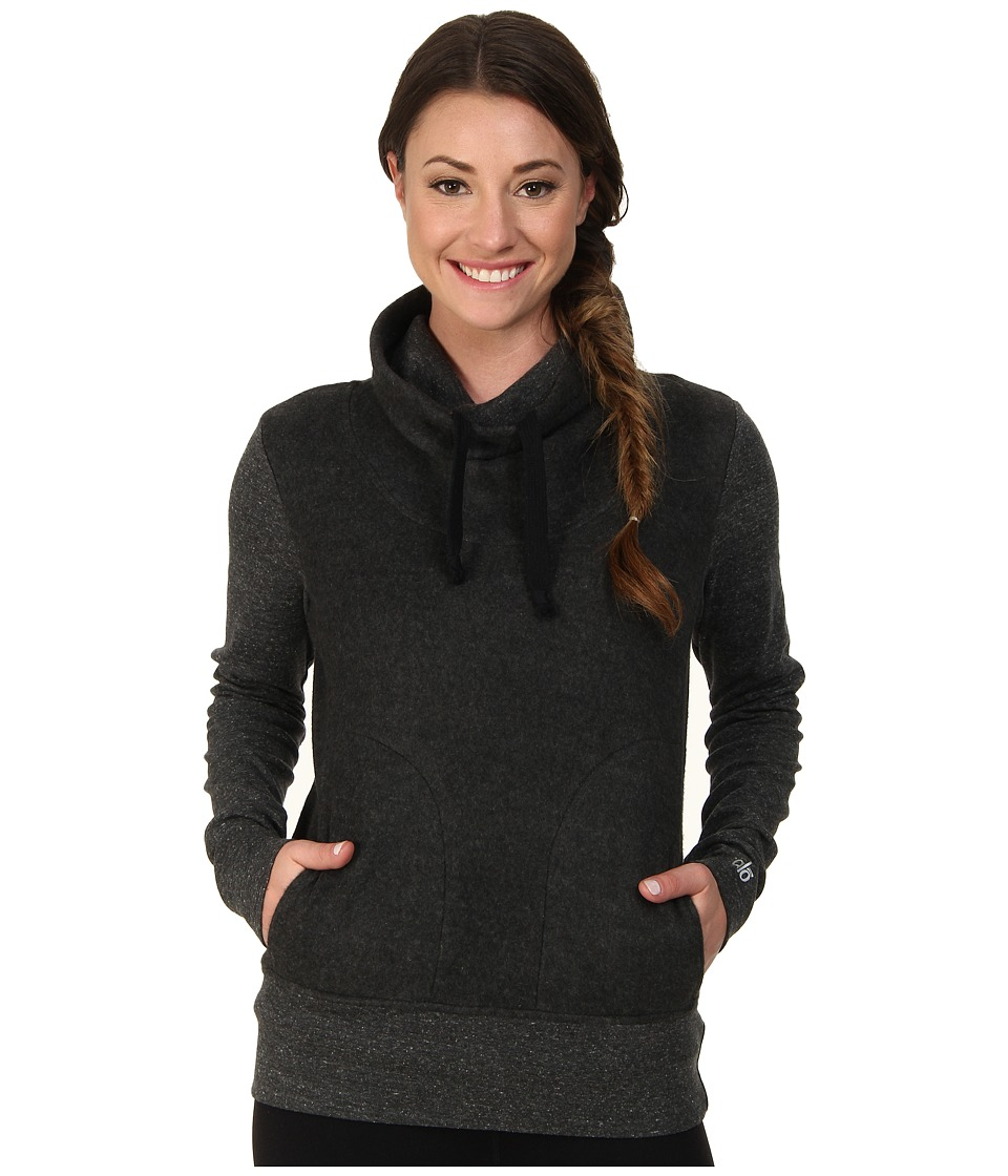 ALO - Rift Long Sleeve (Charcoal Heather) Women's Sweatshirt