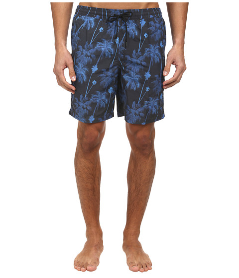 Paul Smith - Palm Tree Long Classic Swim Short (Navy) Men's Swimwear