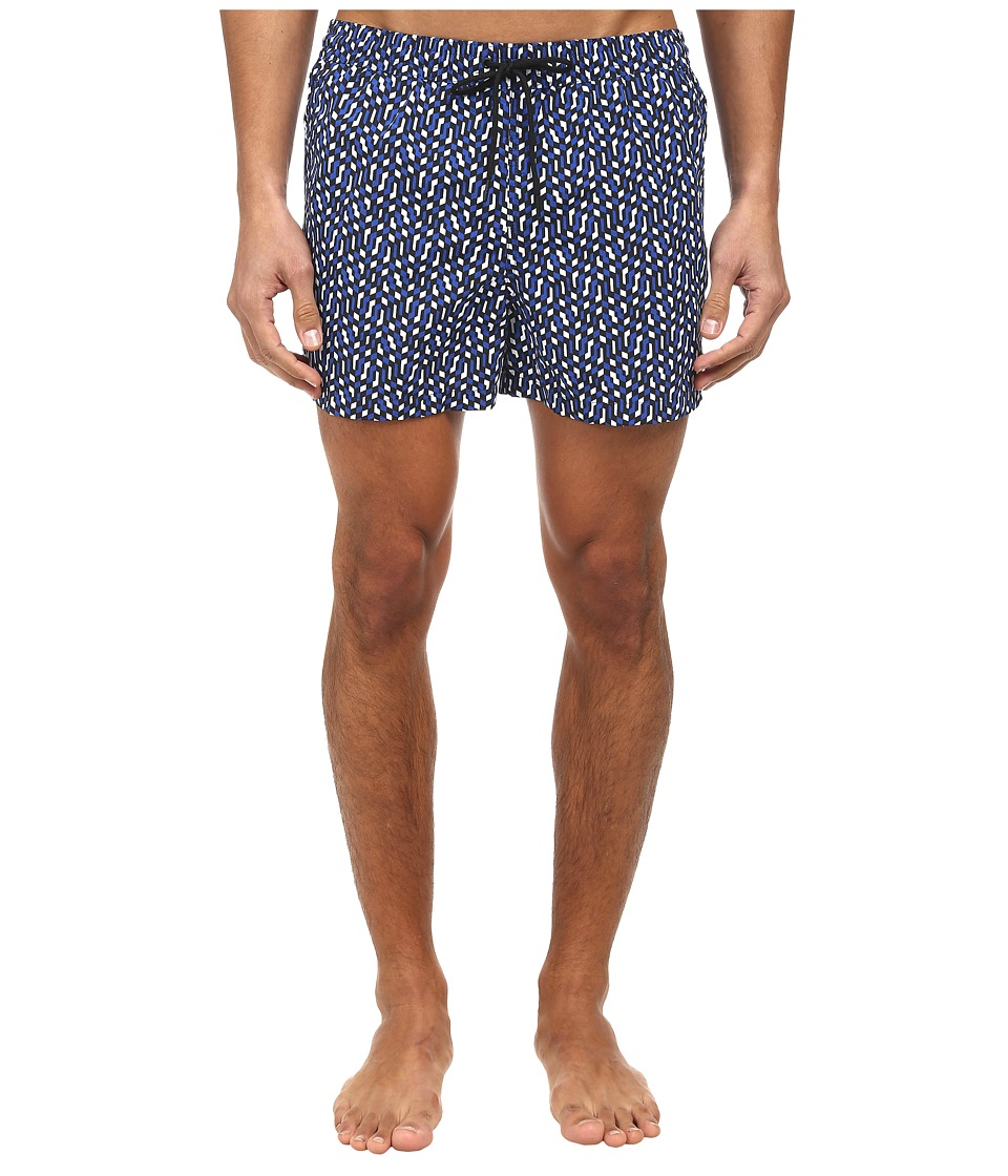 Paul Smith - Art Deco Classic Swim Short (Navy) Men's Swimwear
