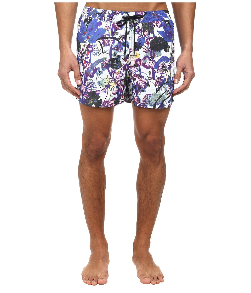 Paul Smith - Floral Classic Swim Short (Blue) Men's Swimwear