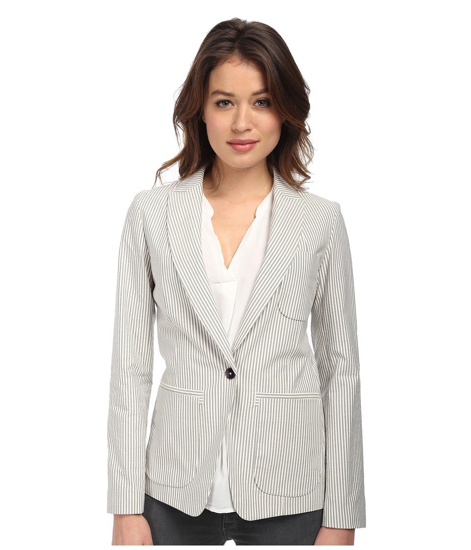 Paul Smith - Stripe Searsucker Jacket (Grey) Women