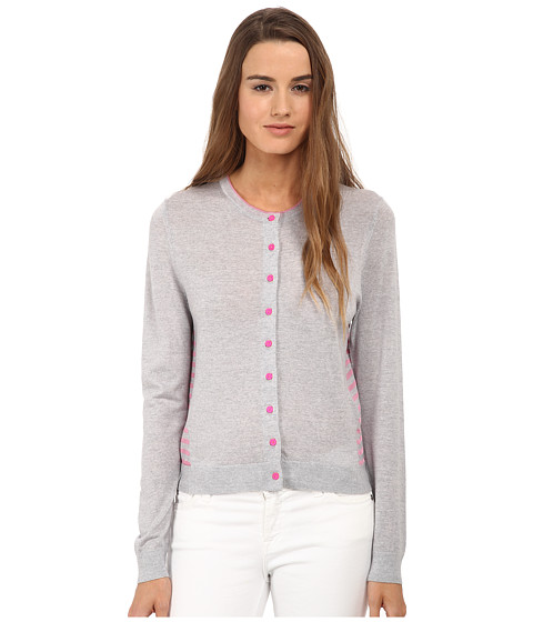 Paul Smith - Stripe Back Cardigan (Grey/Pink) Women's Sweater