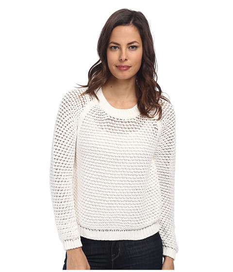 Paul Smith - Open Weave Jumper (White) Women's Long Sleeve Pullover