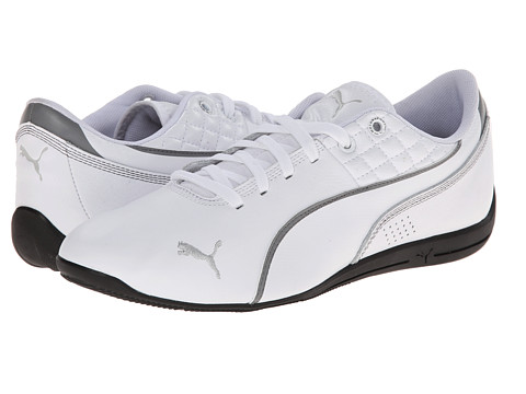 PUMA - Drift Cat 6 Tech (White/Steel Gray) Men's Shoes