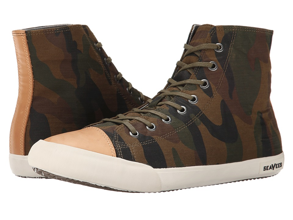 SeaVees - 08/61 Army Issue High Mojave (Olive Camouflage) Men's Shoes