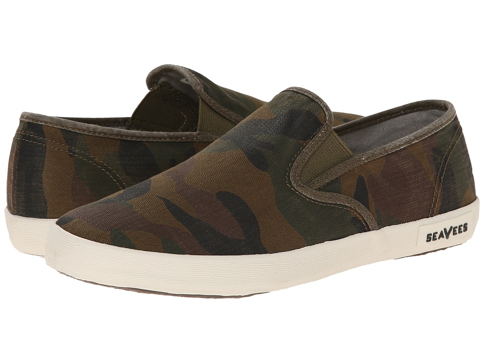 SeaVees - 02/64 Baja Slip On Mojave (Olive Camouflage) Women's Slip on Shoes