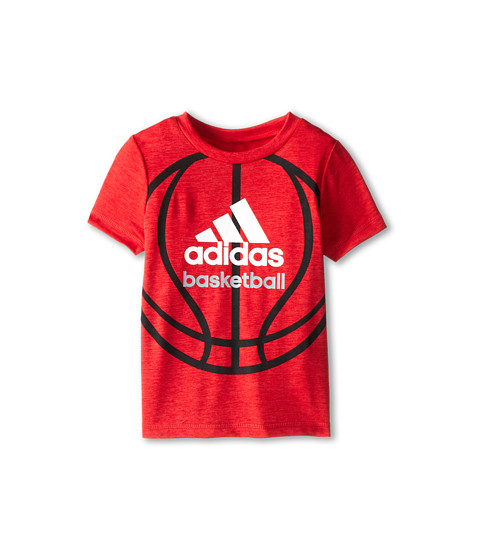 adidas Kids - Clima Sport Ball Tee (Toddler/Little Kids) (Light Scarlet Heather) Boy's T Shirt