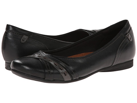 Cobb Hill - Ella (Black) Women's Slip on Shoes