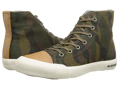 SeaVees - 08/61 Army Issue High Mojave (Olive Camouflage) Women's Shoes