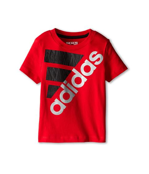 adidas Kids - Shock Performance Tee (Toddler/Little Kids) (Light Scarlet) Boy's T Shirt