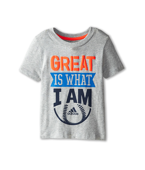 adidas Kids - Great I Am Tee (Toddler/Little Kids) (Grey Heather) Boy