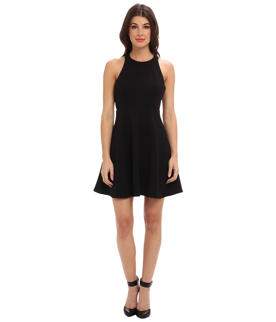 ABS Allen Schwartz - Ribbed Ottoman Baby Doll Dress (Black) Women's Dress