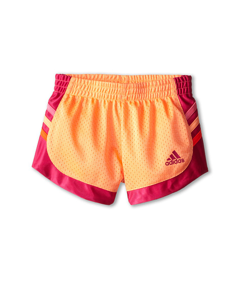 adidas Kids - Tumble Short (Toddler/Little Kids) (Flash Orange) Girl's Shorts