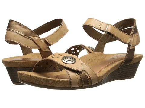 Cobb Hill - Halle (Sand) Women's Wedge Shoes