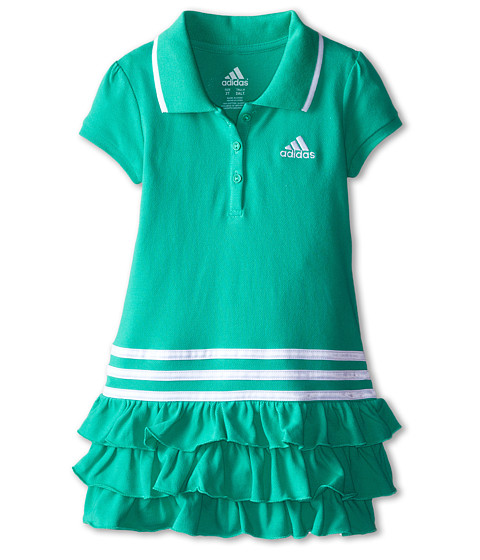 adidas Kids - Ruffle Polo Dress (Toddler/Little Kids) (Adi Bright Green) Girl's Dress