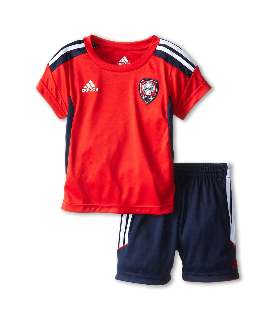 adidas Kids - Team Set (Infant) (Light Scarlet) Boy's Active Sets
