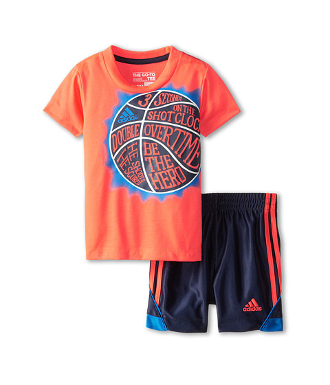 adidas Kids - Speed Set (Infant) (Adi Solar Red) Boy's Active Sets