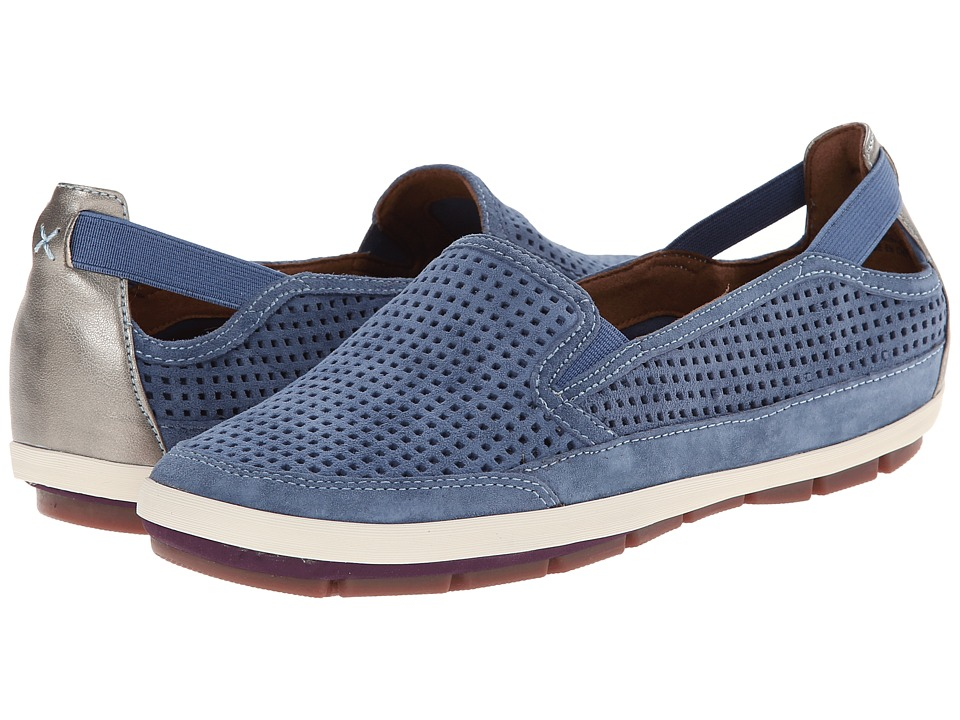 Rockport Cobb Hill Collection - Tara (Blue) Women's Slip on Shoes