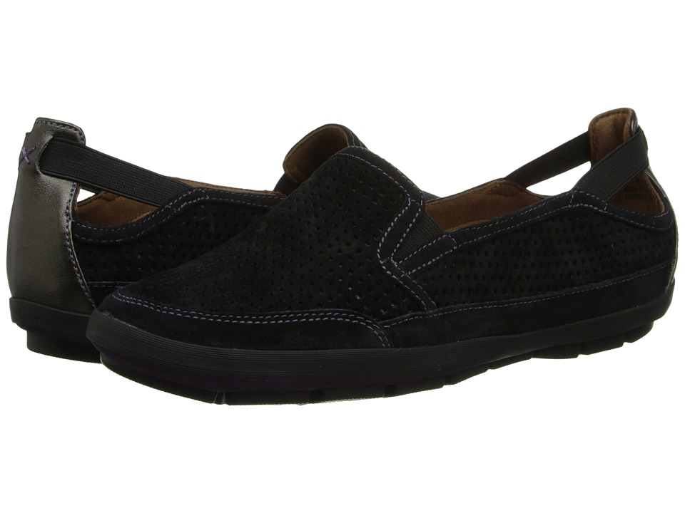 Rockport Cobb Hill Collection - Tara (Black) Women's Slip on Shoes