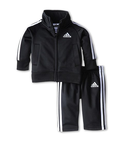 adidas Kids - Iconic Tricot Set (Infant) (Black) Boy's Active Sets