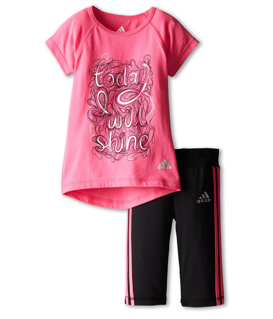 adidas Kids - Stealth Set (Infant) (Solar Pink) Girl