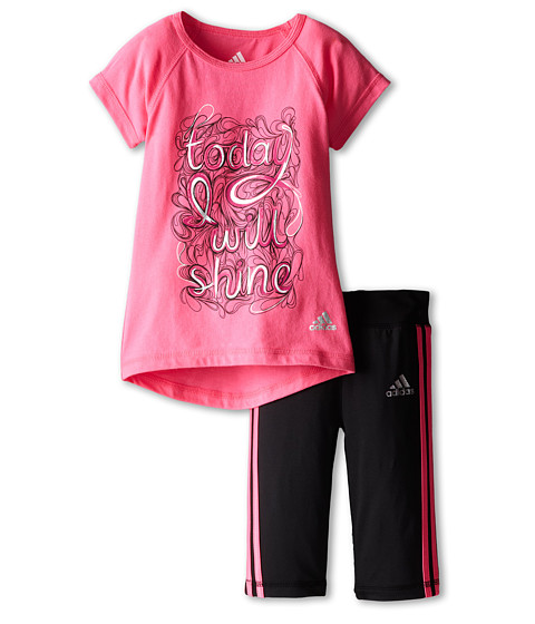 adidas Kids - Stealth Set (Infant) (Solar Pink) Girl's Active Sets
