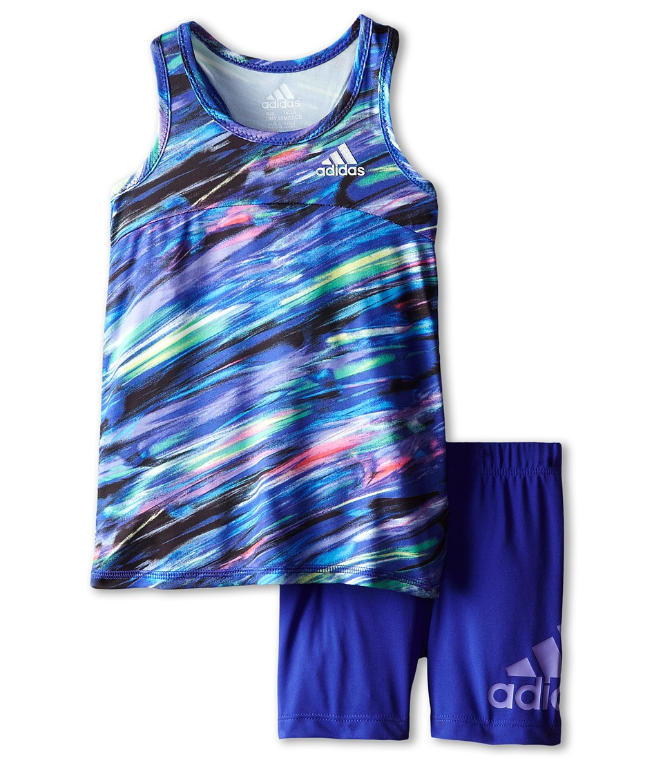 adidas Kids - Fast Forward Set (Infant) (Multi Print) Girl's Active Sets