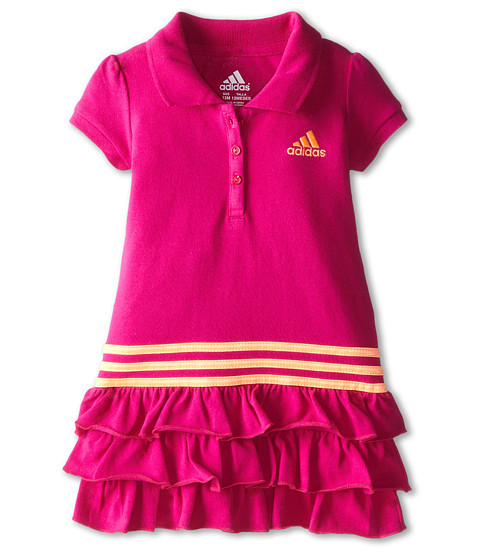 adidas Kids - Ruffle Polo Dress (Infant) (Pow Pink) Girl