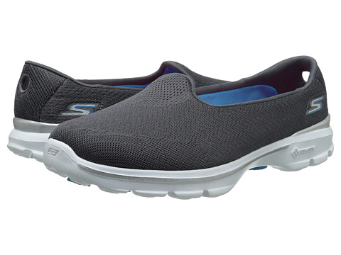 SKECHERS Performance - Go Walk 3 - Insight (Charcoal) Women's Flat Shoes