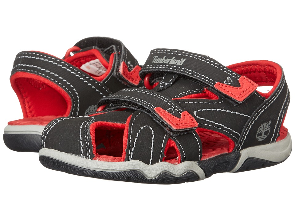 Timberland Kids - Adventure Seeker Closed Toe Sandal (Toddler/Little Kid) (Black/Red) Boys Shoes