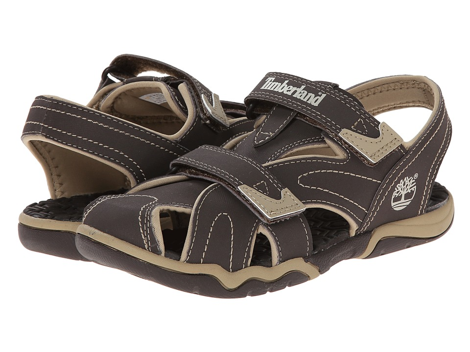 Timberland Kids - Adventure Seeker Closed Toe Sandal (Toddler/Little Kid) (Brown/Tan) Boys Shoes