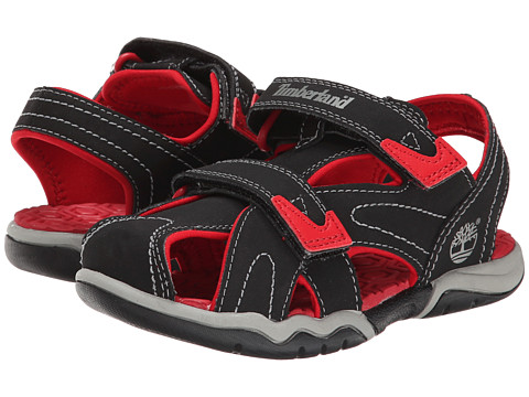 Timberland Kids - Adventure Seeker Closed Toe Sandal (Little Kid) (Black/Red) Boys Shoes