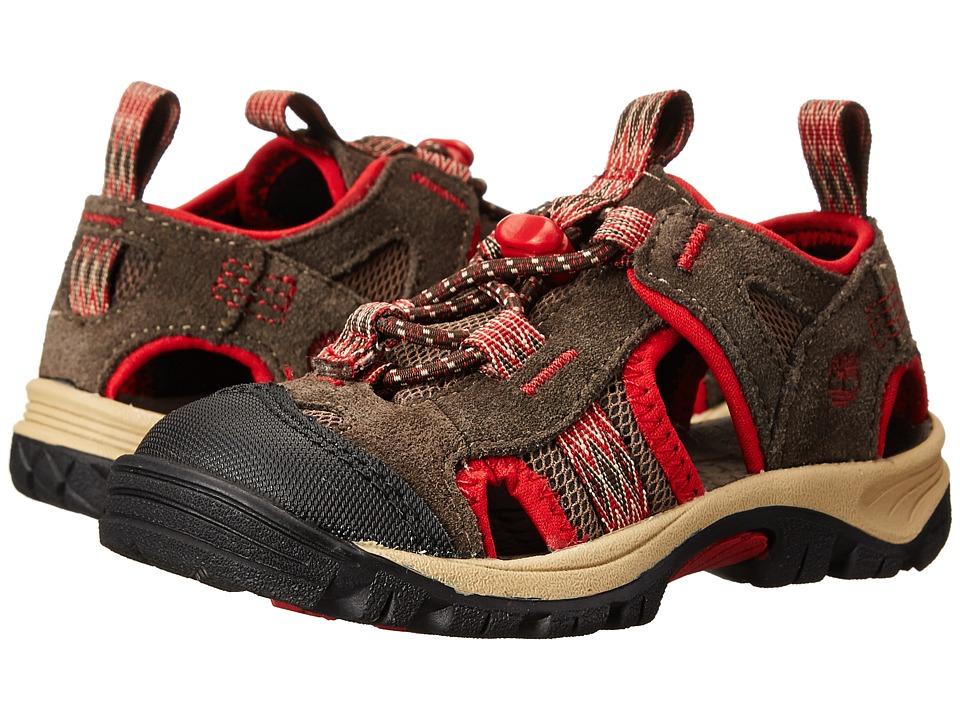 Timberland Kids - Belknap Sandal Fisherman (Toddler/Little Kid) (Brown/Red) Boy's Shoes