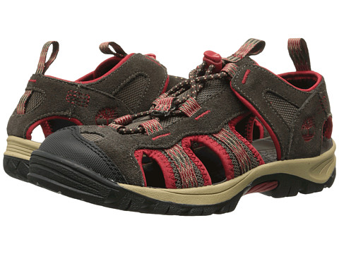 Timberland Kids - Belknap Sandal Fisherman (Big Kid) (Brown/Red) Boy's Shoes