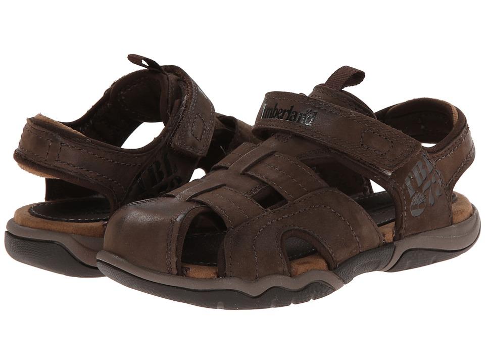 Timberland Kids - Earthkeepers(r) Oak Bluffs Leather Fisherman (Little Kid) (Dark Brown) Boy's Shoes