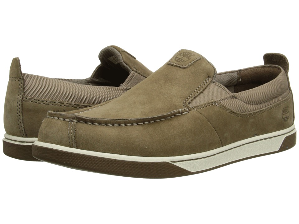Timberland Kids - Earthkeepers Groveton Leather and Fabric Slip-On (Big Kid) (Greige Kid Skin) Boys Shoes