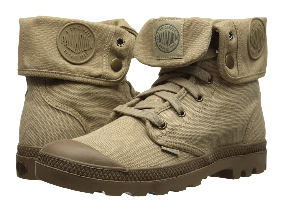 Palladium - Baggy (Stonewashed Dark Khaki/Khaki) Women's Lace-up Boots