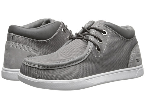 Timberland Kids - Earthkeepers Groveton Leather and Fabric Moc Toe Chukka (Big Kid) (Grey) Boys Shoes