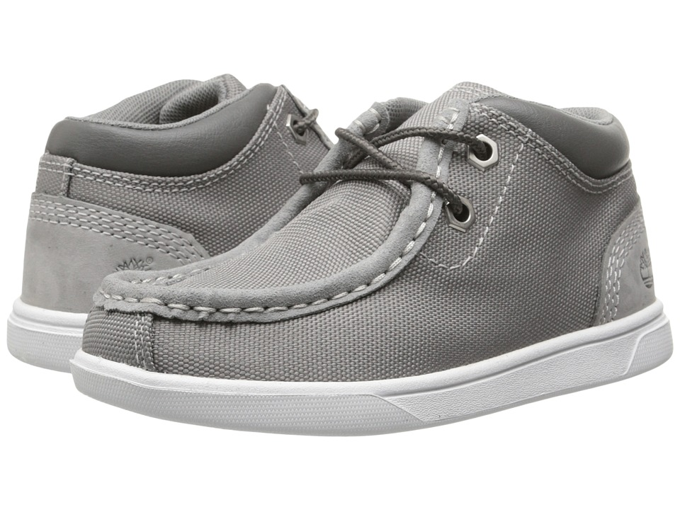 Timberland Kids - Earthkeepers Groveton Leather and Fabric Moc Toe Chukka (Toddler/Little Kid) (Grey) Boys Shoes