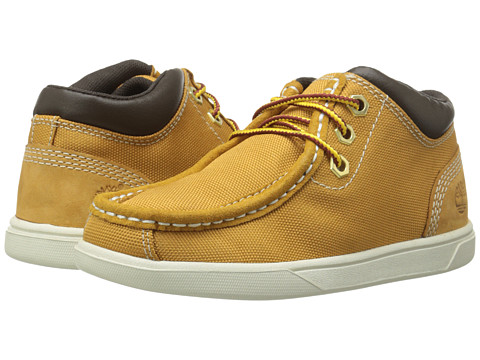 Timberland Kids - Earthkeepers Groveton Leather and Fabric Moc Toe Chukka (Little Kid) (Wheat) Boys Shoes