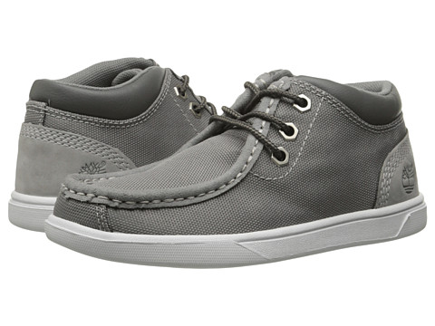 Timberland Kids - Earthkeepers Groveton Leather and Fabric Moc Toe Chukka (Little Kid) (Grey) Boys Shoes
