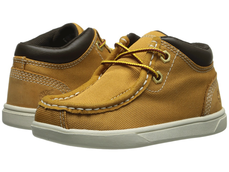 Timberland Kids - Earthkeepers Groveton Leather and Fabric Moc Toe Chukka (Toddler/Little Kid) (Wheat) Boys Shoes