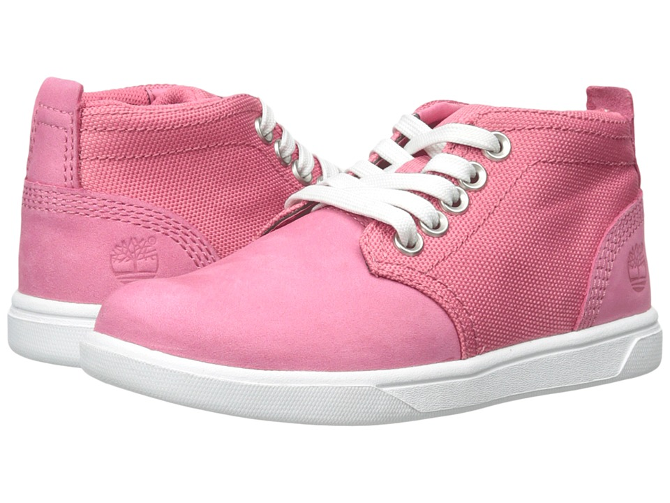 Timberland Kids - Earthkeepers Groveton Leather and Fabric Chukka (Toddler/Little Kid) (Pink) Girls Shoes