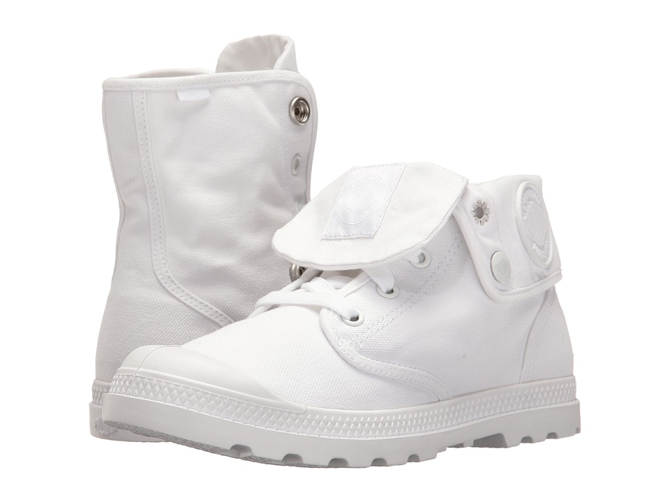 Palladium - Baggy Low LP (White/White) Women's Lace-up Boots