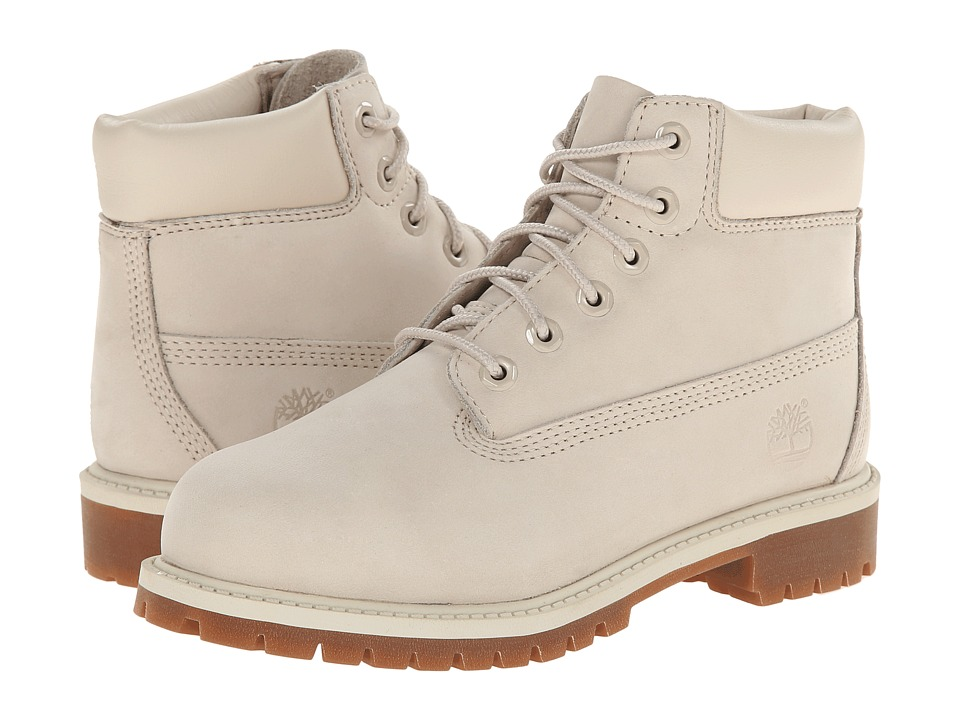 Timberland Kids - 6 Premium Waterproof Boot (Little Kid) (Off-White Nubuck) Kids Shoes