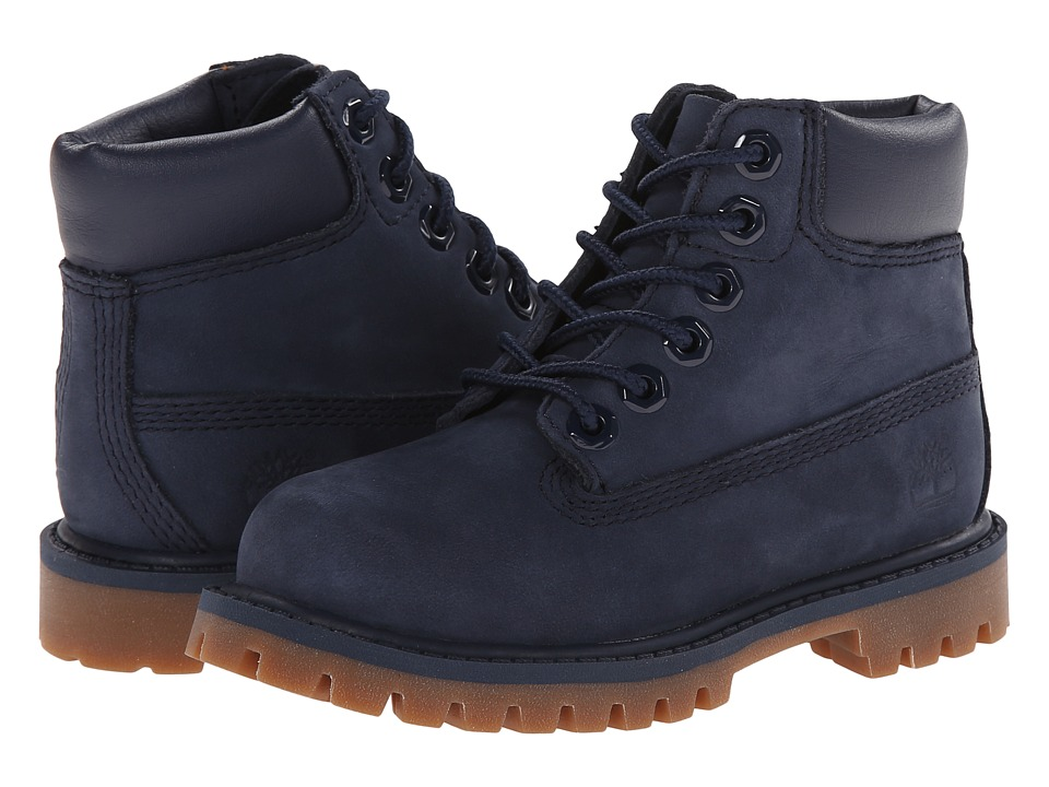 Timberland Kids - 6 Premium Waterproof Boot (Toddler/Little Kid) (Navy Nubuck) Kids Shoes