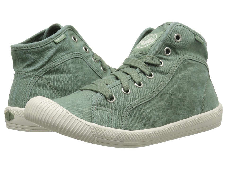 Palladium - Flex Lace Mid (Hedge Green/Marshmallow) Women's Lace up casual Shoes